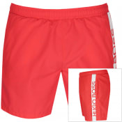 Product Image for BOSS HUGO BOSS Dolphin Swim Shorts Red