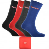 Product Image for Levis 4 Pack Comfort 168SF Socks Gift Set Red