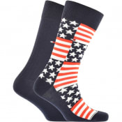 Product Image for Tommy Hilfiger 2 Pack Flag Socks Navy