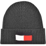 Product Image for Tommy Hilfiger Big Flag Beanie Hat In Grey