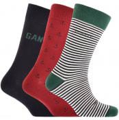 Product Image for Gant Three Pack Socks Gift Set Navy