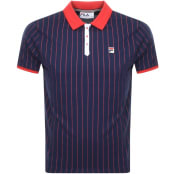 Product Image for Fila Vintage Pinstripe Polo T Shirt Navy