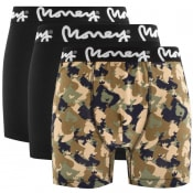 Product Image for Money 3 Pack Logo Trunks Black