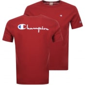 Product Image for Champion Crew Neck Logo T Shirt Red