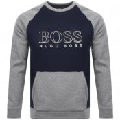 Product Image for BOSS Bodywear Logo Crew Neck Sweatshirt Navy