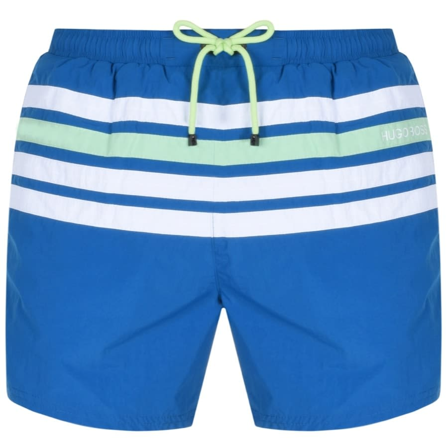 hugo boss blue swim shorts