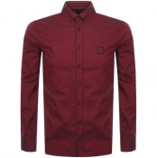 Product Image for BOSS Casual Long Sleeved Mabsoot Shirt Red
