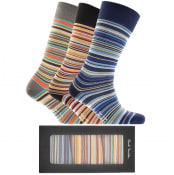 Product Image for Paul Smith Gift Set 3 Pack Stripe Socks Blue