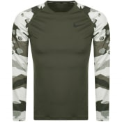 Product Image for Nike Training Long Sleeve Camouflage T Shirt Green