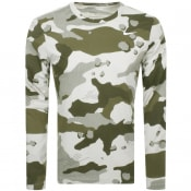 Product Image for Nike Training Long Sleeve Camo T Shirt Green