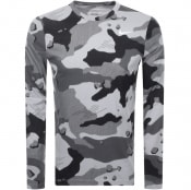 Product Image for Nike Training Long Sleeve Camo T Shirt Grey