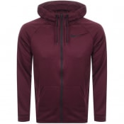 Product Image for Nike Training Full Zip Logo Hoodie Burgundy