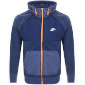 Product Image for Nike Winter Logo Full Zip Fleece Hoodie Blue