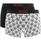 Product Image for HUGO Two Pack Brother Boxers White