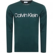 Product Image for Calvin Klein Long Sleeved Logo T Shirt Green