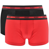 Product Image for HUGO Double Pack Boxers Black