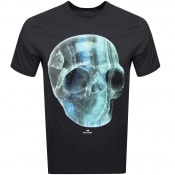 Product Image for PS By Paul Smith Crystal Skull Logo T Shirt Black