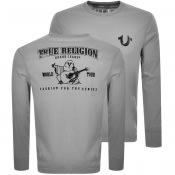 Product Image for True Religion Long Sleeved Buddha T Shirt Grey