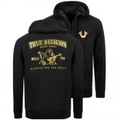 Product Image for True Religion Double Puff Full Zip Hoodie Black