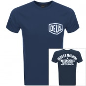 Product Image for Deus Ex Machina Biarritz Logo T Shirt Navy