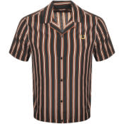 Product Image for Fred Perry X Miles Kane Short Sleeved Shirt Black