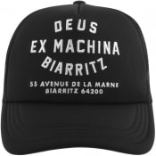 Product Image for Deus Ex Machina Biarritz Logo Trucker Cap Black