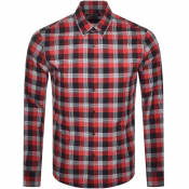 Product Image for Michael Kors Long Sleeved Slim Fit Shirt Red