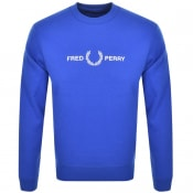Product Image for Fred Perry Crew Neck Logo Sweatshirt Blue