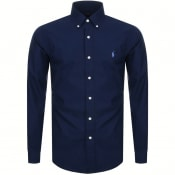 Product Image for Ralph Lauren Long Sleeved Slim Fit Shirt Navy