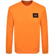 Product Image for Fred Perry Crew Neck Sweatshirt Orange