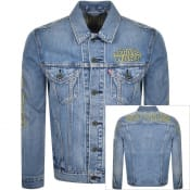 Product Image for Levis X Star Wars Logo Denim Trucker Jacket Blue