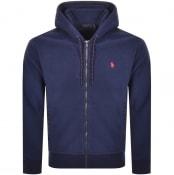 Product Image for Ralph Lauren Full Zip Fleece Hoodie Navy