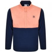 Product Image for adidas Originals Half Zip Fleece Jacket Navy