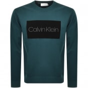 Product Image for Calvin Klein Block Logo Sweatshirt Green