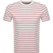 Product Image for Farah Vintage Webster Stripe T Shirt Grey