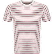 Product Image for Farah Vintage Webster Stripe T Shirt Grey