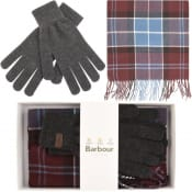 Product Image for Barbour Scarf And Gloves Gift Set Purple
