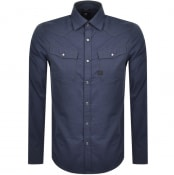 Product Image for G Star Raw Long Sleeved Slim 3301 Shirt Navy