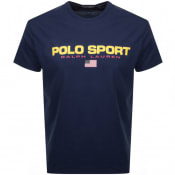 Product Image for Ralph Lauren  Crew Neck Logo T Shirt Navy