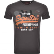 Product Image for Superdry Vintage Logo T Shirt Grey