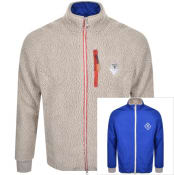 Product Image for Barbour Beacon Reversible Foley Logo Fleece Beige