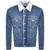 Product Image for Calvin Klein Jeans Denim Sherpa Jacket Blue