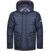 Product Image for Tommy Hilfiger Hooded Bomber Jacket Navy