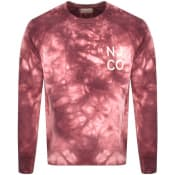 Product Image for Nudie Jeans Melvin Tie Dye Sweatshirt Pink