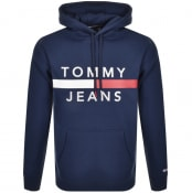 Product Image for Tommy Jeans Reflective Logo Hoodie Navy