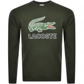 Product Image for Lacoste Large Crocodile Sweatshirt Green