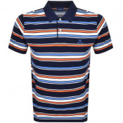 Product Image for Gant Multi Stripe Rugger Polo T Shirt Blue