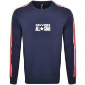 Product Image for Converse All Star Logo Crew Neck Sweatshirt Navy