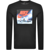 Product Image for Nike Long Sleeved Logo T Shirt Black