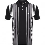 Product Image for Pretty Green Walsh Stripe Polo T Shirt Black